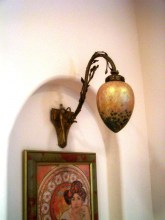 Loetz Wall Sconce w/ great shade
