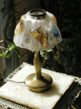 Pairpoint Puffy Butterfly Lamp